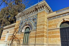 Дворец Velazquez в парке Retiro в городе Мадрида стоковые фото