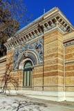 Дворец Velazquez в парке Retiro в городе Мадрида стоковые изображения rf