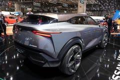 Дебют автомобиля концепции кроссовера Nissan IMQ гибридный стоковое фото rf