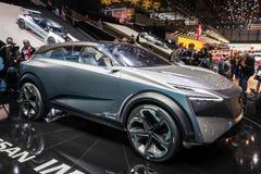 Дебют автомобиля концепции кроссовера Nissan IMQ гибридный стоковая фотография rf