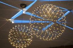 Декоративный желтый и голубой свет стоковое фото