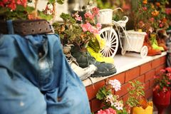Декоративный сад в Стамбуле стоковые изображения rf