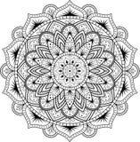 Декоративный орнамент в этническом восточном стиле Круговая картина в форме мандалы для хны, Mehndi, татуировки, украшения иллюстрация вектора
