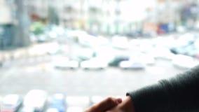 Дело руки окна сток-видео