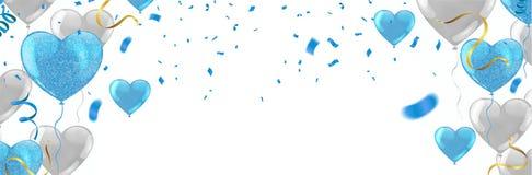 День рождения счастья дизайна оформления торжества с днем рождений к вам логотип, карта, знамя бесплатная иллюстрация