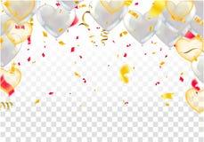 День рождения счастья дизайна оформления торжества с днем рождений к вам логотип, карта, знамя иллюстрация штока