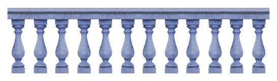 Деталь конкретной итальянской балюстрады - безшовное изображение концепции картины на белом backgroud для легкого выбора стоковое фото rf