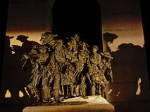 Деталь национального военного мемориала, Оттава, Канада, вечером стоковое изображение