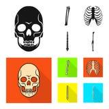 Дизайн вектора значка медицины и клиники Установите медицины и медицинской иллюстрации вектора запаса бесплатная иллюстрация