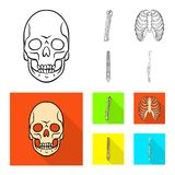 Дизайн вектора символа медицины и клиники Установите медицины и медицинского значка вектора для запаса иллюстрация вектора