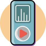 Дизайн значка приложений музыки iPod плоский, логотип значка бесплатная иллюстрация