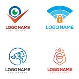 Дизайн и значок логотипа безопасностью иллюстрация вектора