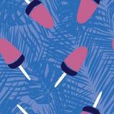 Дизайн картины сладкого мороженого безшовный бесплатная иллюстрация