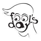 Дизайн дня дурачков в апреле стоковое изображение rf
