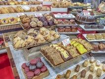 Дисплей печенья на шоу еды латиноамериканца Sabor стоковая фотография rf