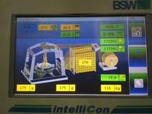 Дисплей регулятора сплетя машины advantex BSW круговой стоковое изображение