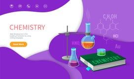 Дисциплина школы химии, коллеж подвергает бесплатная иллюстрация