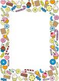 Frame of sweets for registration of photographs, advertising brochures. Vector frame of sweets for registration of photographs, advertising brochures vector illustration