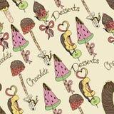 Dessert, fruit on a stick in chocolate.illustration, royalty free illustration