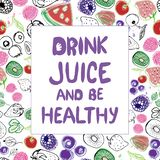 Lettering, healthy lifestyle. Slogan cal royalty free illustration
