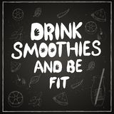 Lettering, healthy lifestyle royalty free illustration