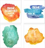 Watercolor backgrounds with beautiful phrases vector illustration