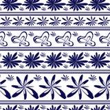 Seamless vector floral vintage damask porcelain pattern. Seamless vector abstract floral vintage pattern. Porcelain ceramic tile. Ornament with flowers and stock illustration