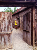 Ð'ÐΜÑ€ÐΜÐ ² Ñ  Ð ½ Ð ½ Ñ ‹Ð ¹ Ð'Ð ² ÐΜрР½ Ð ¾ Ð ¹ εσωτερικός ξύλινος πορτώ στοκ φωτογραφία με δικαίωμα ελεύθερης χρήσης