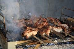 ШашД Ñ ‹Ðº Ð ½ а Ð ¼ аР½ Ð ³ аД е 在格栅的烤肉串 图库摄影
