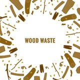 Line style icon collection - wood waste elements royalty free illustration
