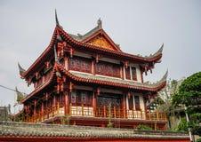 Древний храм в Чэнду, Китае стоковое изображение