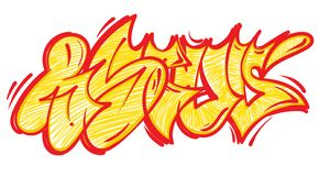 Graffiti lettering alphabet. Set street type calligraphy design alphabet graffiti flop fast style letters write aerosol paint spray. Free wild style for wall stock illustration