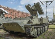 9A35-Ð ¡有四个导弹9M37防空导弹的ombat车 免版税库存照片