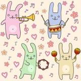 Ð ¡犹特人兔宝宝无缝的样式 免版税图库摄影