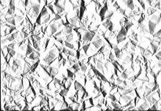 Ð'ackground-Weiß zerknitterte Papier-, hohe Bildqualität Lizenzfreies Stockbild