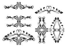 Ð ¡ alligraphic设计元素 库存照片