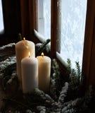 Ð ¡ andles στο παράθυρο Στοκ εικόνα με δικαίωμα ελεύθερης χρήσης