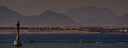 Рanorama wschodnie miasto z latarnią morską Zdjęcie Stock