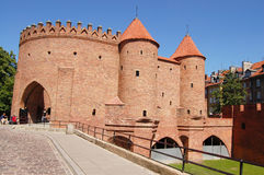 Вarbican. The capital of Poland, Warsaw. Old Town Royalty Free Stock Photo