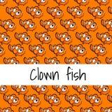 Ð-¡ ard mit Fischen auf einem orange Hintergrund mit Raum lizenzfreie abbildung