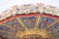Ð ¡ arousel 在红场的圣诞节装饰在莫斯科 免版税库存照片