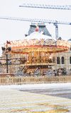 Ð ¡ arousel 在红场的圣诞节装饰在莫斯科 图库摄影