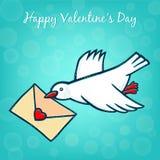 Ð-¡ arrier Taube zum Valentine& x27; s-Tag Lizenzfreies Stockbild
