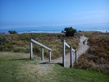 Рath aan het strand, Tauranga, Nieuw Zeeland Royalty-vrije Stock Foto's