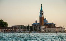 Ð-¡ athedral San Giorgio Maggiore i Venedig Arkivbilder