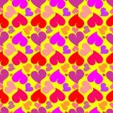 Рattern van harten Stock Afbeeldingen