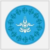 Ð  bstract het embleem van het bloemontwerp Stock Fotografie