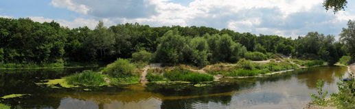 Ð'end van de rivier Stock Foto's