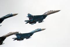 Ð- erobatic Teams Falcons von Russland auf Flächen Su-27 Lizenzfreie Stockfotos