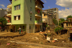 Ð  fter στις 19 Ιουνίου πλημμύρας Βάρνα Βουλγαρία Στοκ Εικόνες
